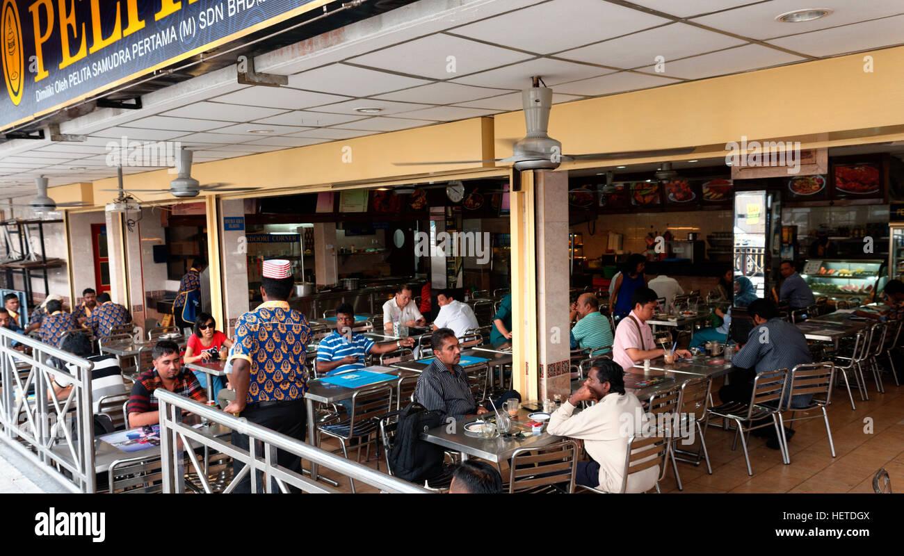 Eating restaurant dining in Bangsar, Kuala Lumpur, Malaysia - Stock Image