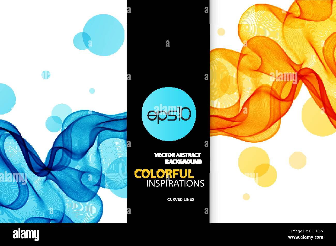 Abstract Vector Background Blue And Orange Transparent