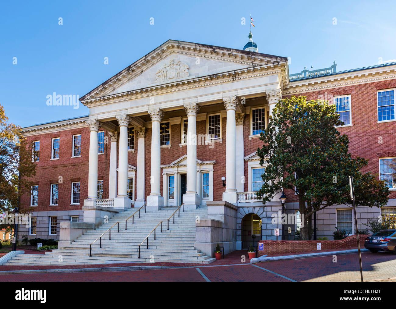 Maryland State House, Annapolis, Maryland, USA - Stock Image