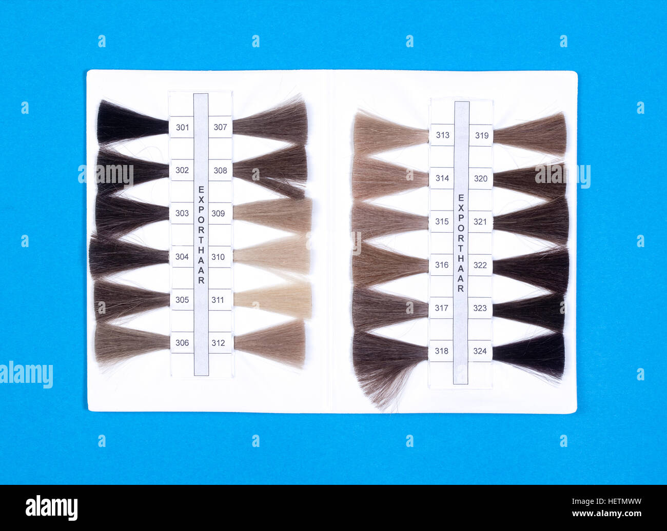 Wig Production Industry - Hair Samples For Sale - Stock Image
