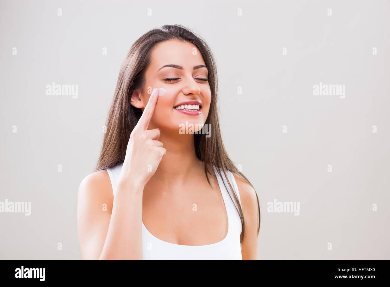 Skin care treatment. - Stock Image