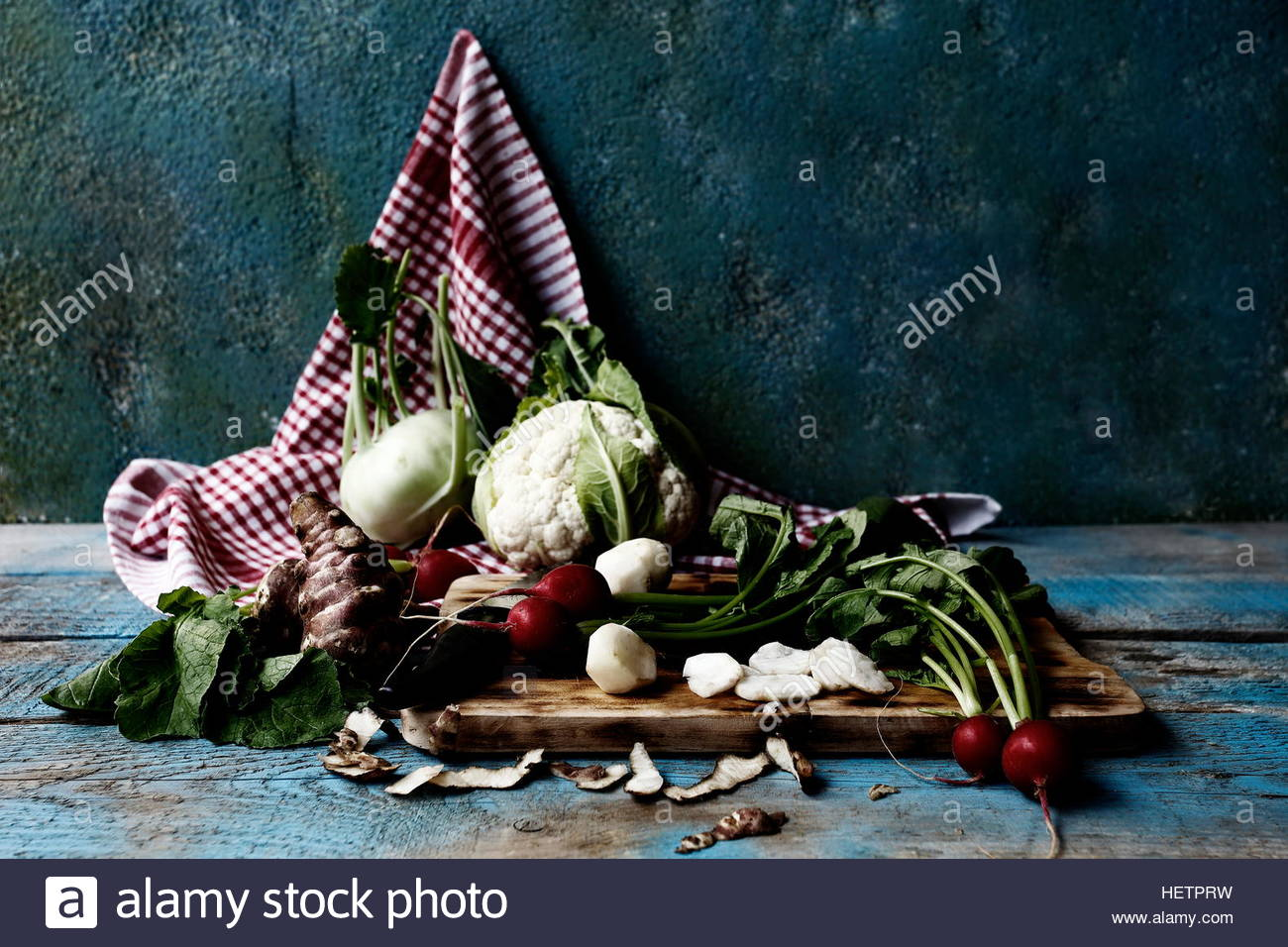 Organic winter vegetables, natural foods, healthy life - Stock Image