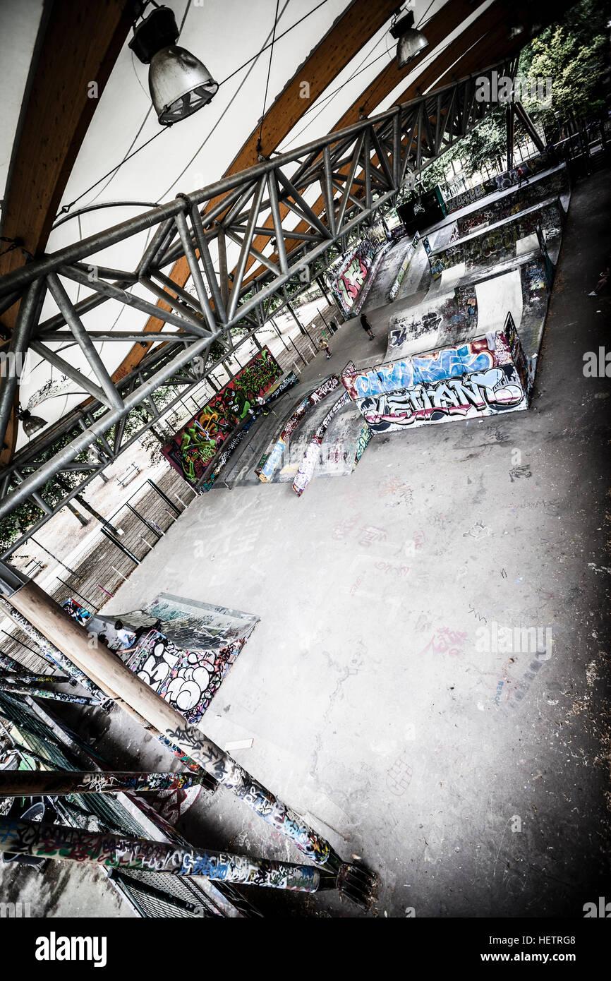 Skatepark de Bercy, Paris, France Stock Photo