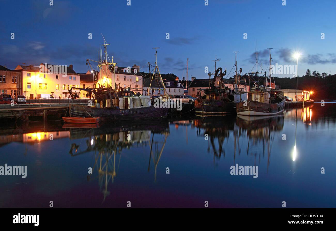 Stornoway Isle Of Lewis,harbour at dusk,Scotland,UK Stock Photo