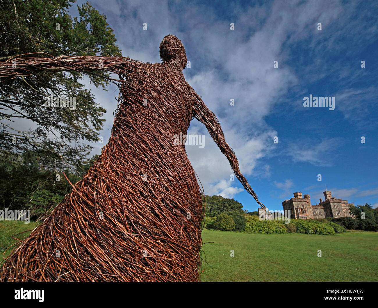 The wicker woman of Stornoway Isle Of Lewis,Scotland,UK - Stock Image