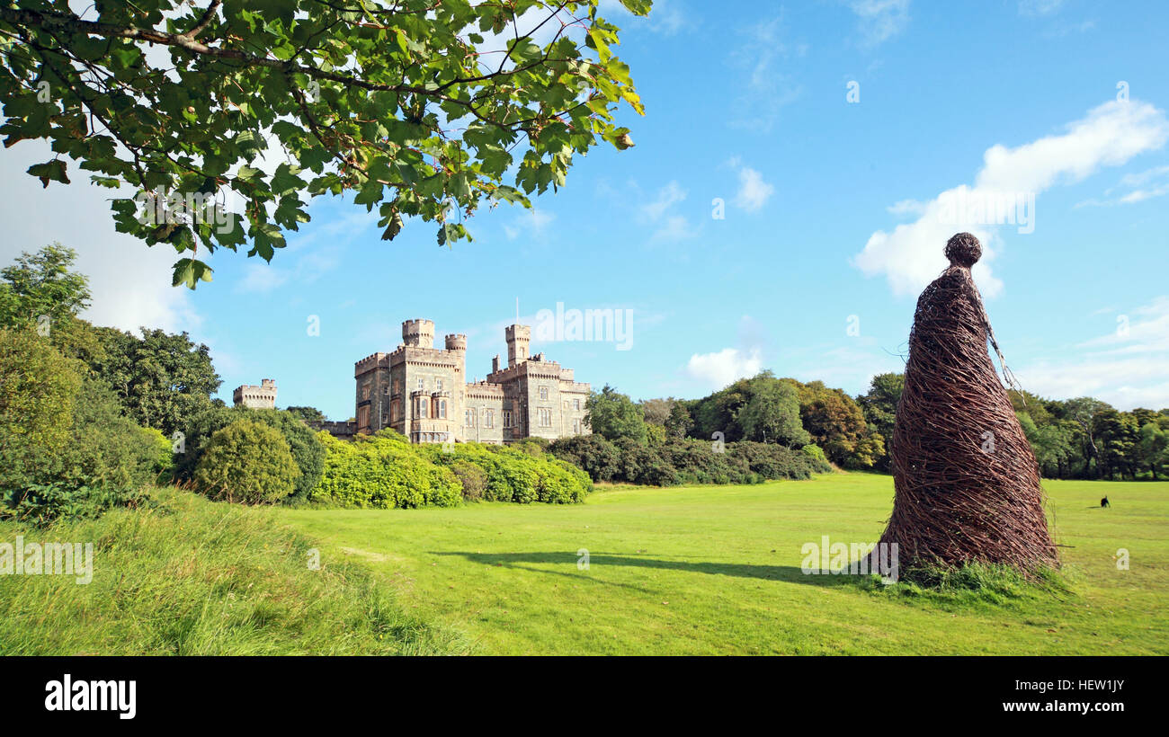 Stornoway Isle Of Lewis,wicker woman at the castle,Scotland,UK - Stock Image