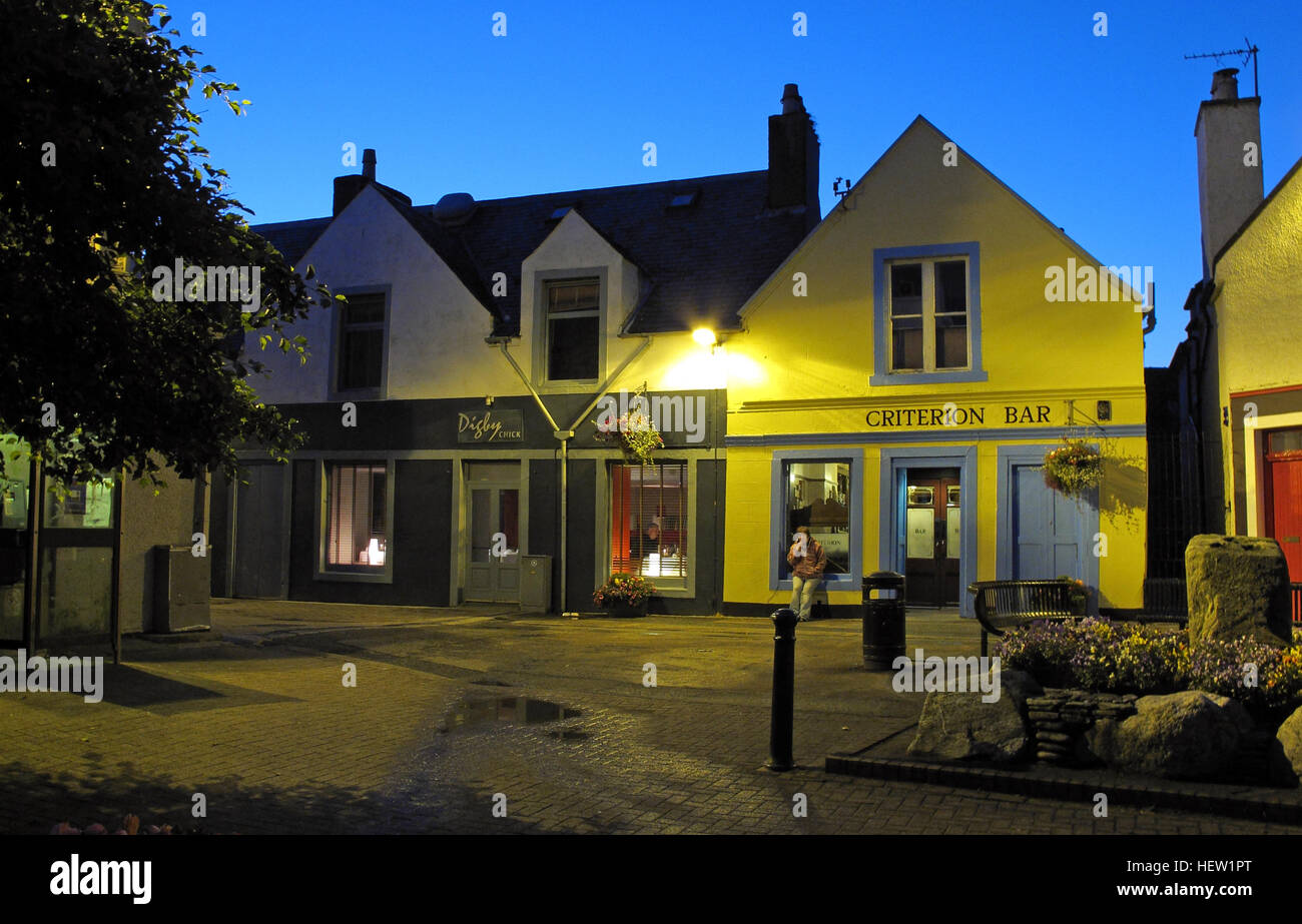 Stornoway Isle Of Lewis,Criterion Bar & Digby Chick restaurant,Scotland, UK - Stock Image