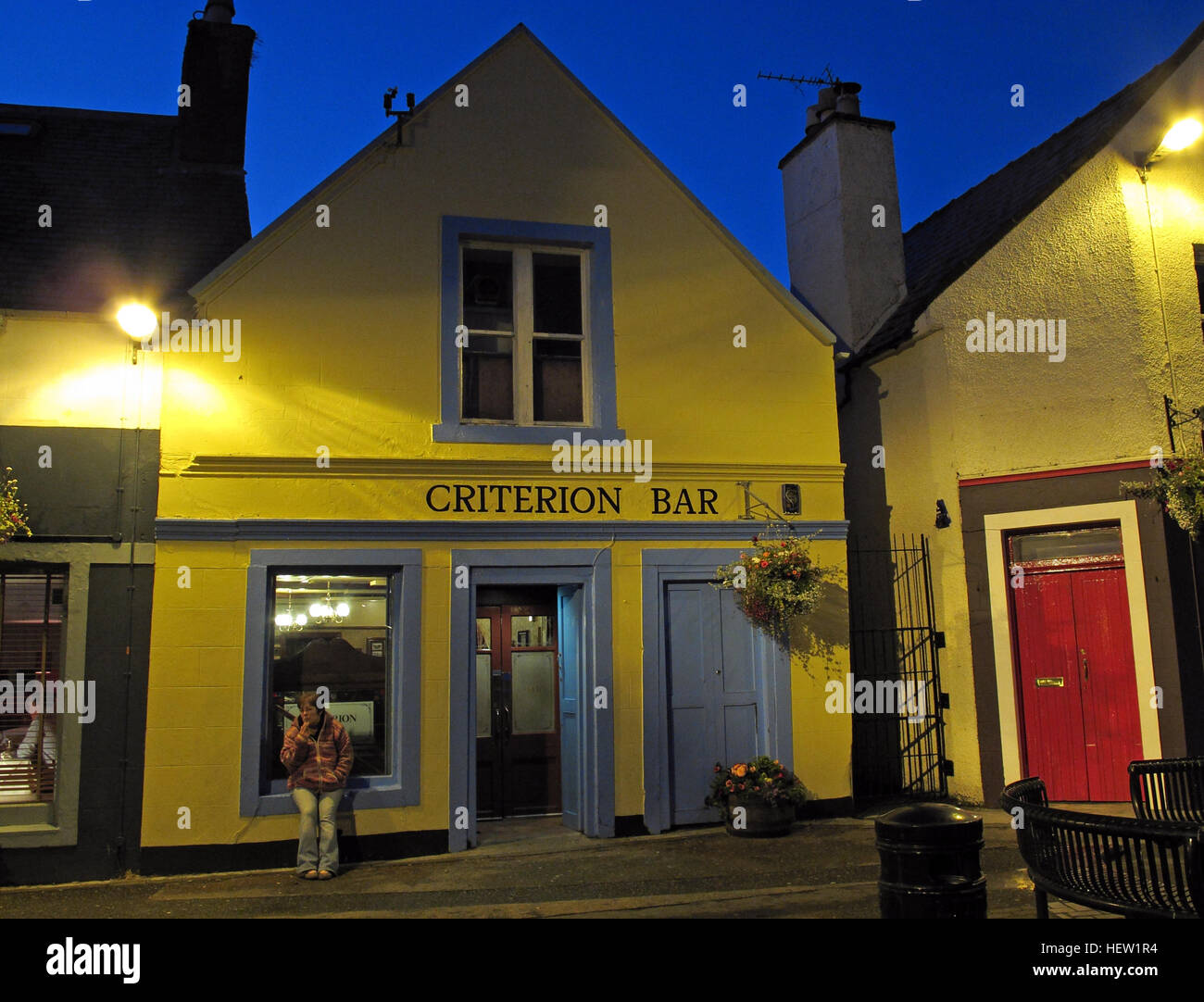 Stornoway Isle Of Lewis,Criterion Bar Stock Photo
