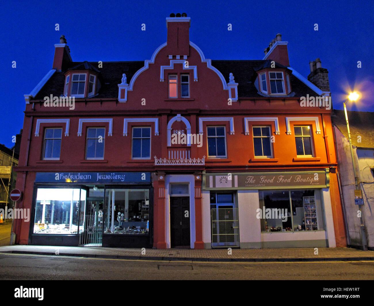 Stornoway Isle Of Lewis,1886 building,Scotland, UK at dusk - Stock Image