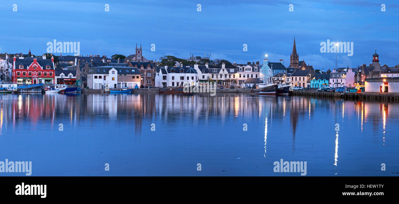 Stornoway Isle Of Lewis town panorama,Scotland, UK - Stock Image