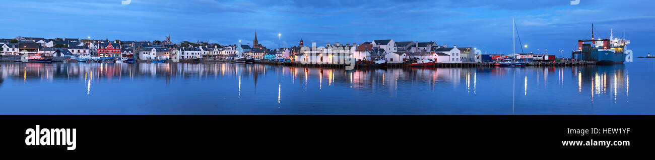 Stornoway Isle Of Lewis Panorama of harbour, Scotland, UK - Stock Image