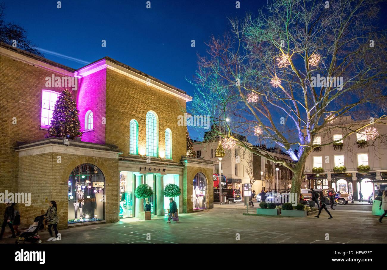 Duke Of York Square Chelsea London UK Nightime - Stock Image