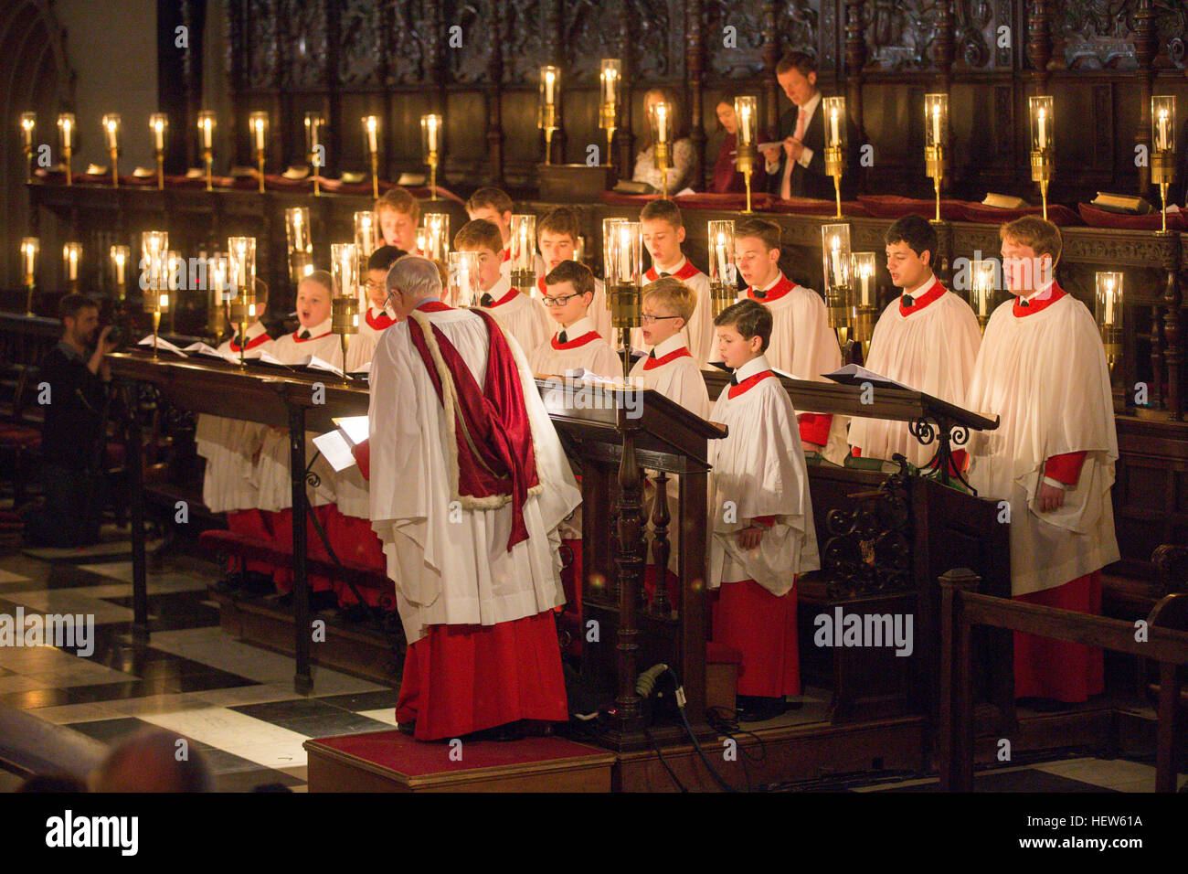 The Kings College Choir In Cambridge Rehearsing For Festival Of Nine Lessons And Carols Christmas Eve Service