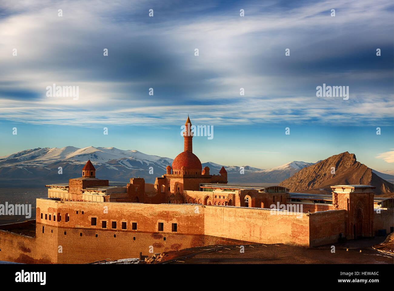 Ishak Pasha Palace,Dogu Beyazit,Agri, Turkey country Stock Photo