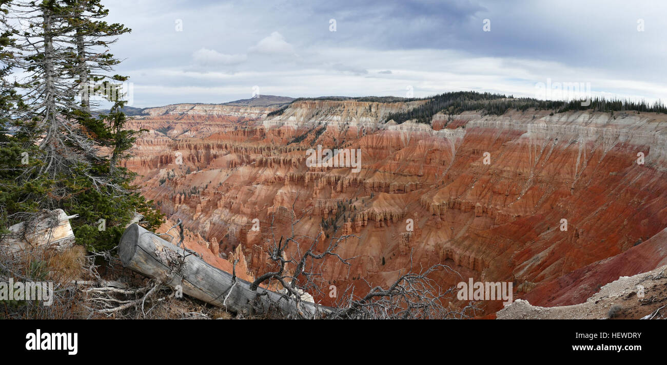 The sorbet-colored, sandcastle-like spires and hoodoos of Bryce Canyon National Park pop like a Dr Seuss picture - Stock Image