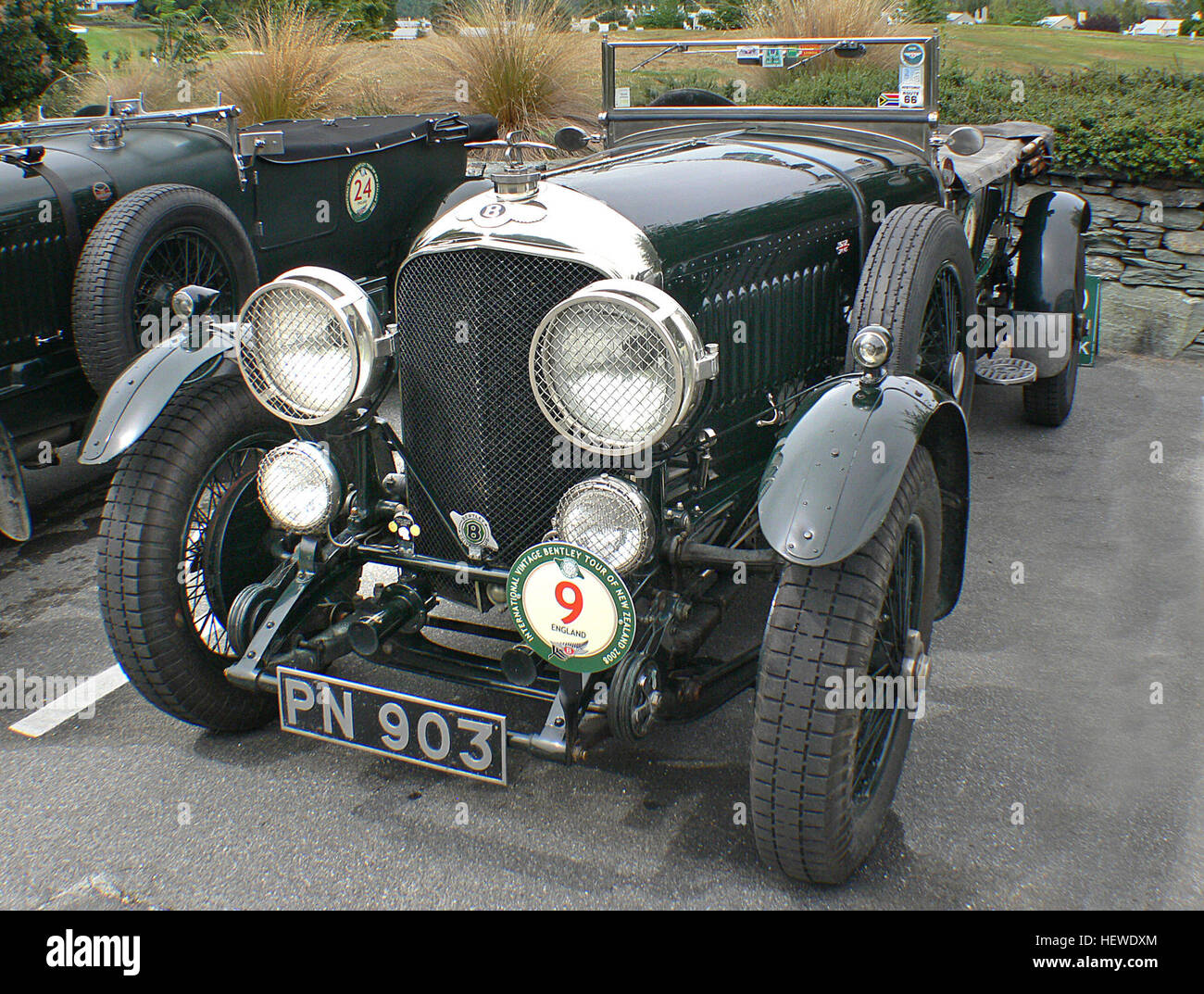 The Bentley 4½ Litre was a British car based on a rolling chassis built by Bentley Motors. Replacing the Bentley - Stock Image