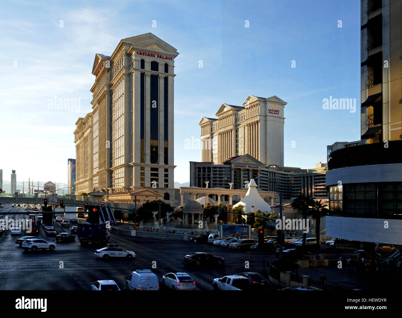 Caesars Palace is a AAA Four Diamond luxury hotel and casino in Paradise, Nevada, United States, situated on the - Stock Image