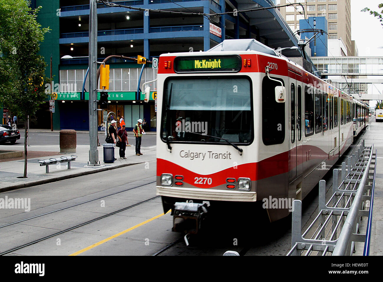 On May 25, 1981, Calgary Transit became one of the first transit systems in North America (behind Edmonton LRT which - Stock Image