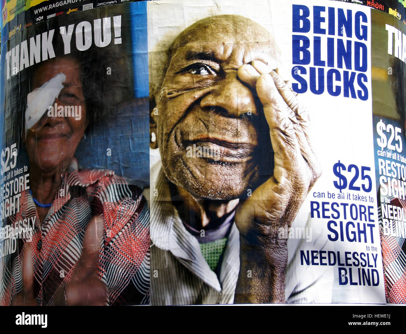 The Fred Hollows Foundation is a non-profit aid organization based in Australia founded in 1992 by eye surgeon Fred Stock Photo