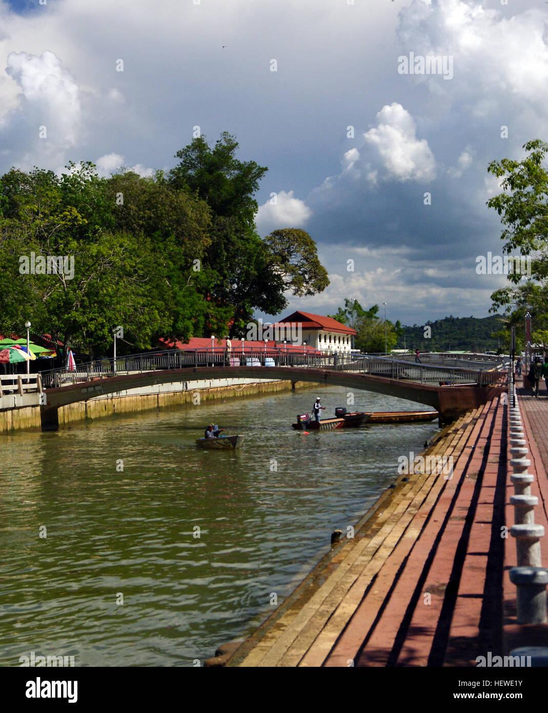 ication (,),Bandar Seri Begawan,Brunei,Brunei Heritage Tour,Water way,Water ways Brunei,canal - Stock Image