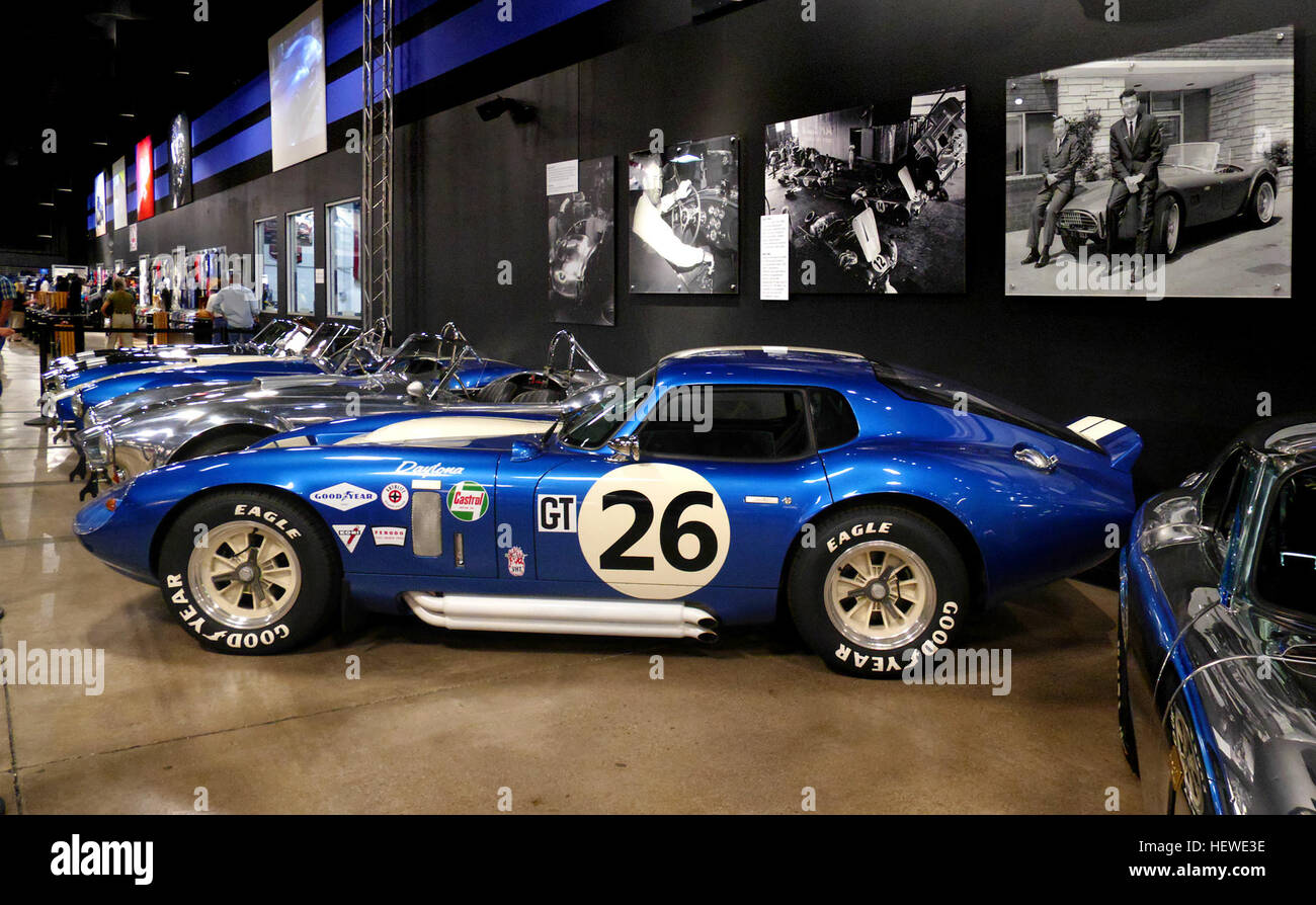 As with all museums, this one is filled with beautiful art. The art of automobiles. This is a fantastic free attraction - Stock Image