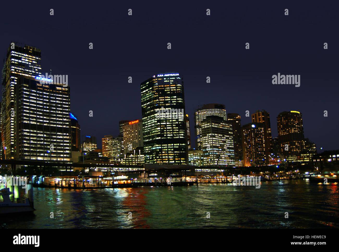 City Lights,Ferries,Ferry,Ferry Boats,High Rise,Niight Views  Sydney,Sydney,Sydney Australia,Sydney By Nightu0027 Sightseeing,Sydney  Habour,Sydney Harbour Bridge ...