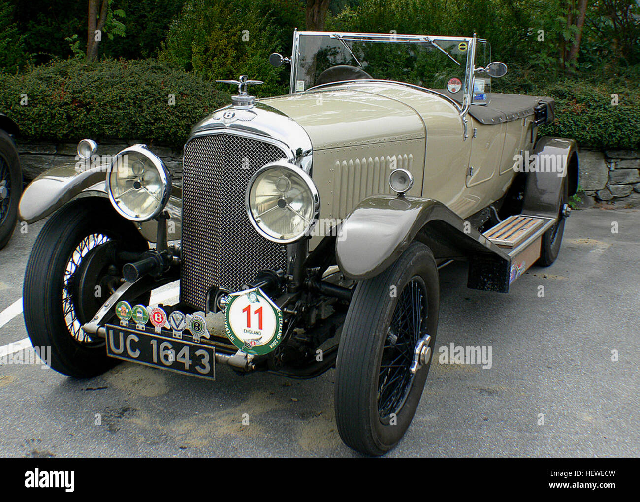 The Bentley 4½ Litre was a British car based on a rolling chassis built by Bentley Motors.[1] Walter Owen Bentley - Stock Image