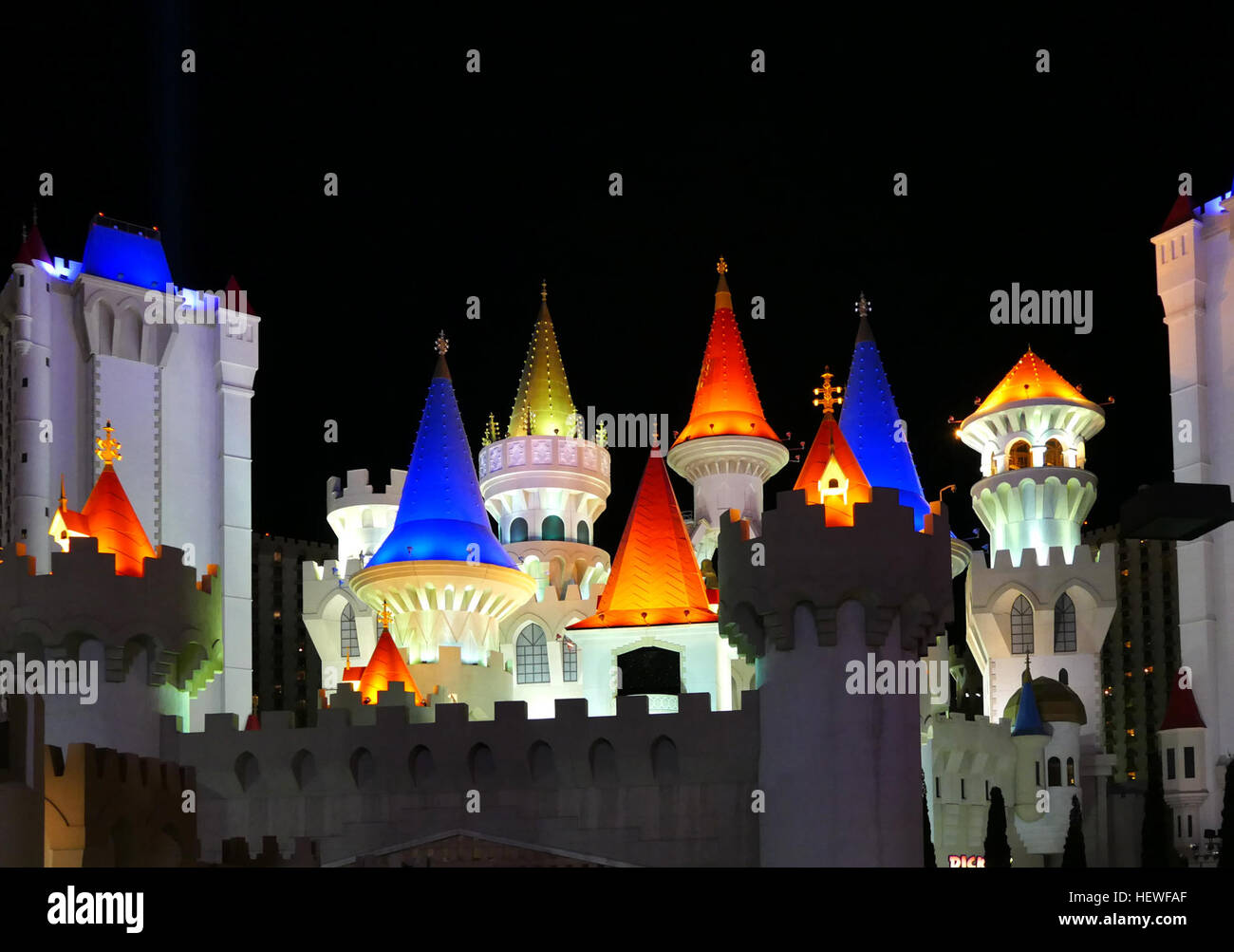 Excalibur Hotel and Casino is a hotel and casino located on the Las Vegas Strip in Paradise, Nevada, in the United - Stock Image