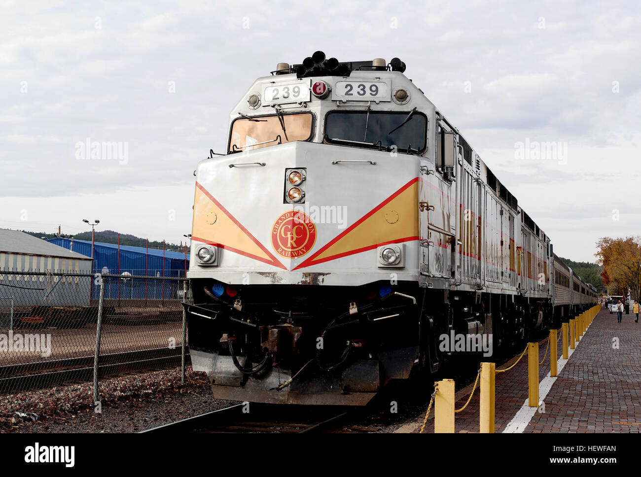 Hundreds of F40PH units were built, and many can be found in use on passenger, tourist and freight railroads today, - Stock Image
