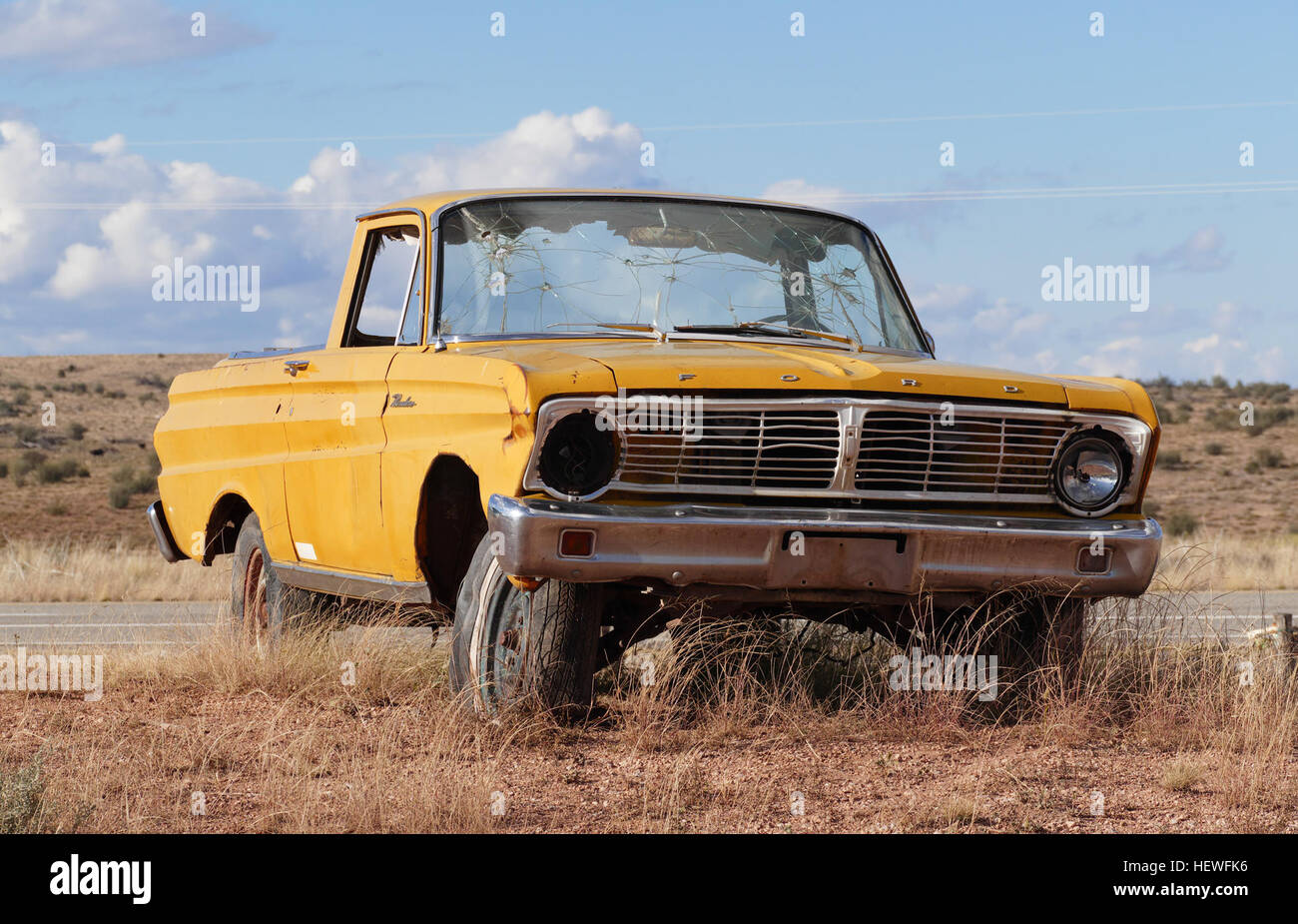 The Ford Ranchero is a coupe utility that was produced by Ford between 1957 and 1979. Unlike a pickup truck, the - Stock Image