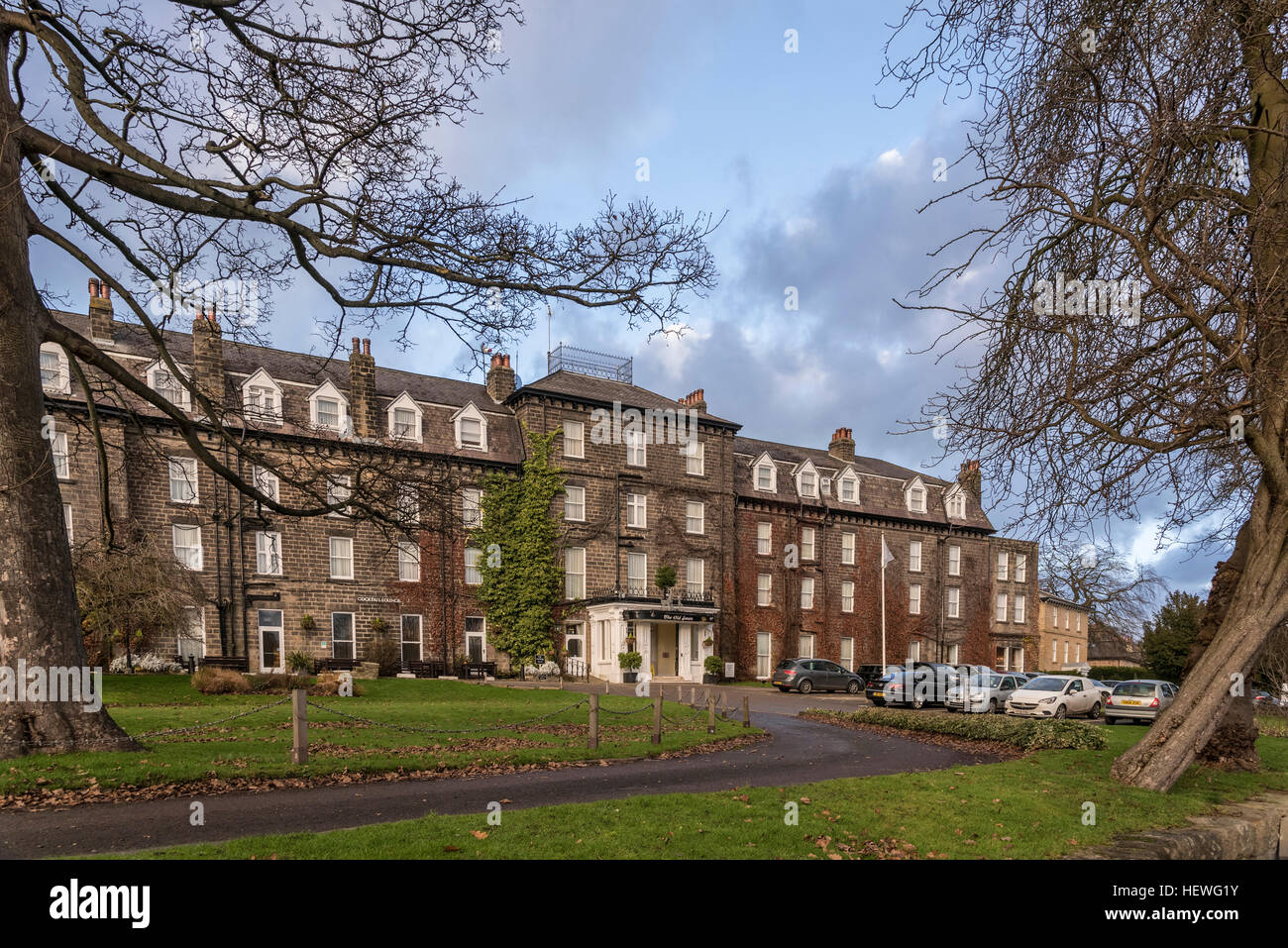 The Old Swan hotel in Harrogate North Yorkshire. The hotel that famous crime writer Agatha Christie disappeared - Stock Image