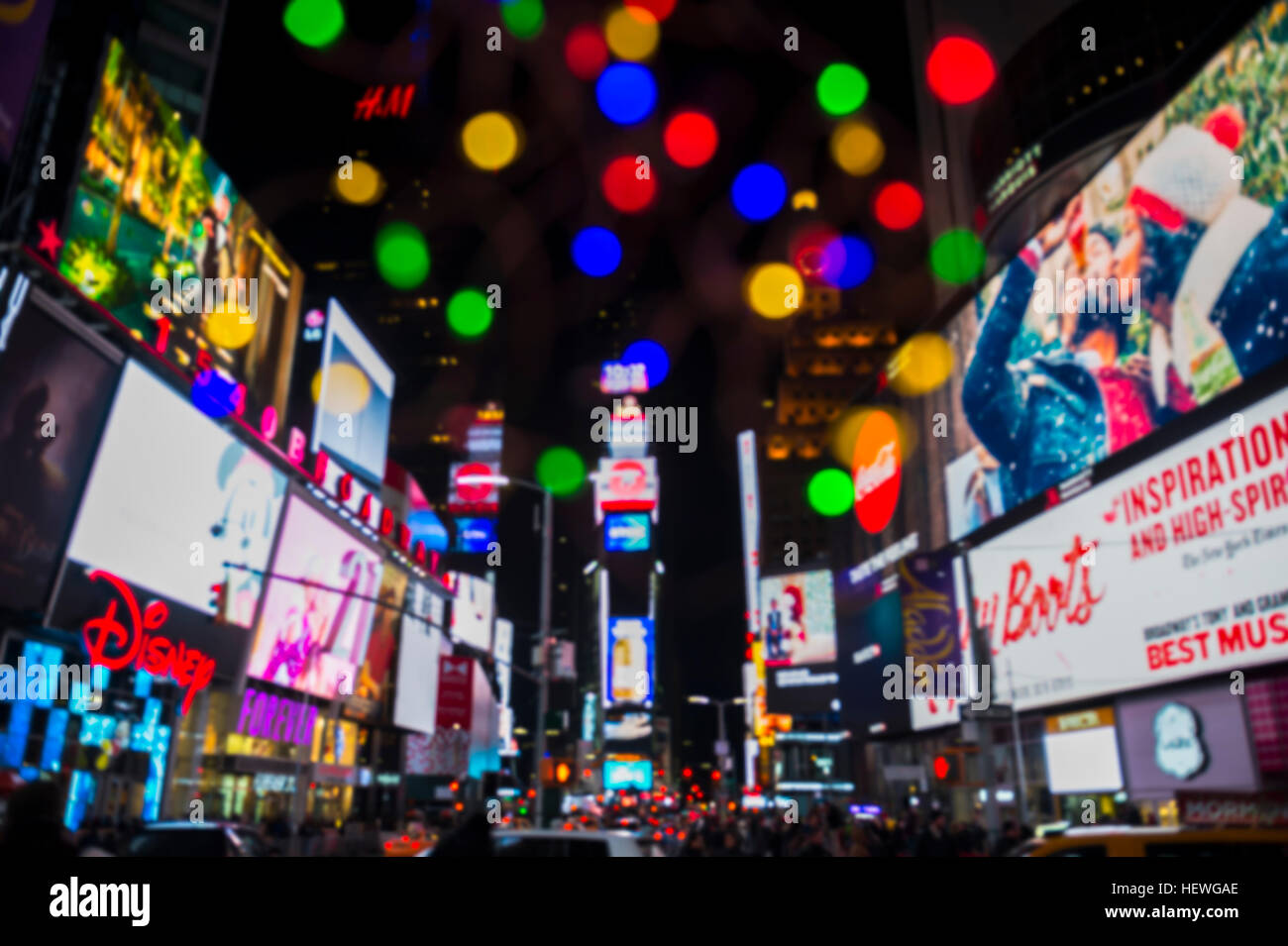 NEW YORK CITY - DECEMBER 23 2016 Colorful lights decorate Times Square as the city prepares for New Yearu0027s Eve celebrations. & NEW YORK CITY - DECEMBER 23 2016: Colorful lights decorate Times ...