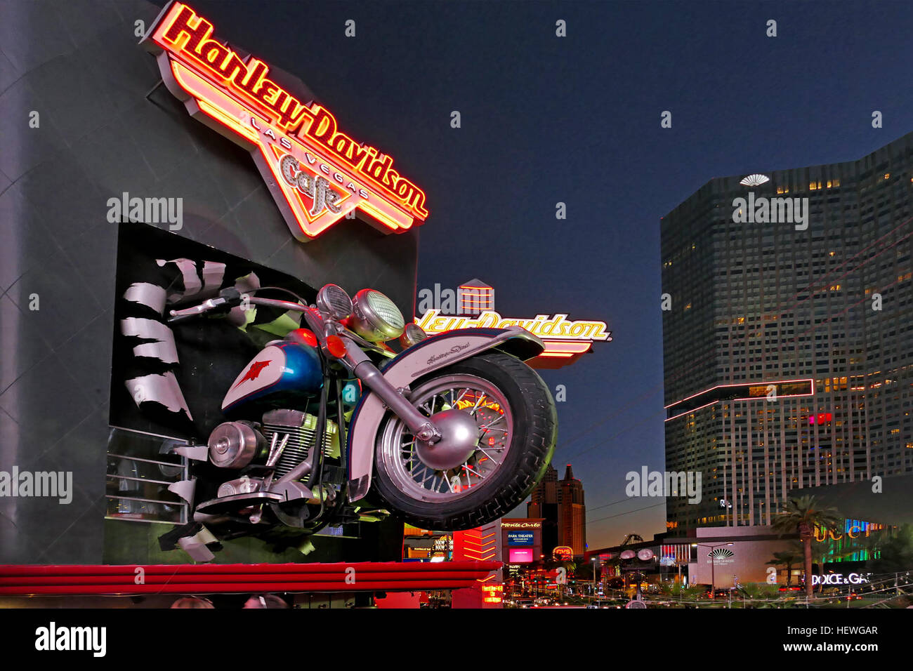 After 19 years, the Strip's Harley-Davidson Cafe is closing for good at the end of the month. Possessing an impressive - Stock Image
