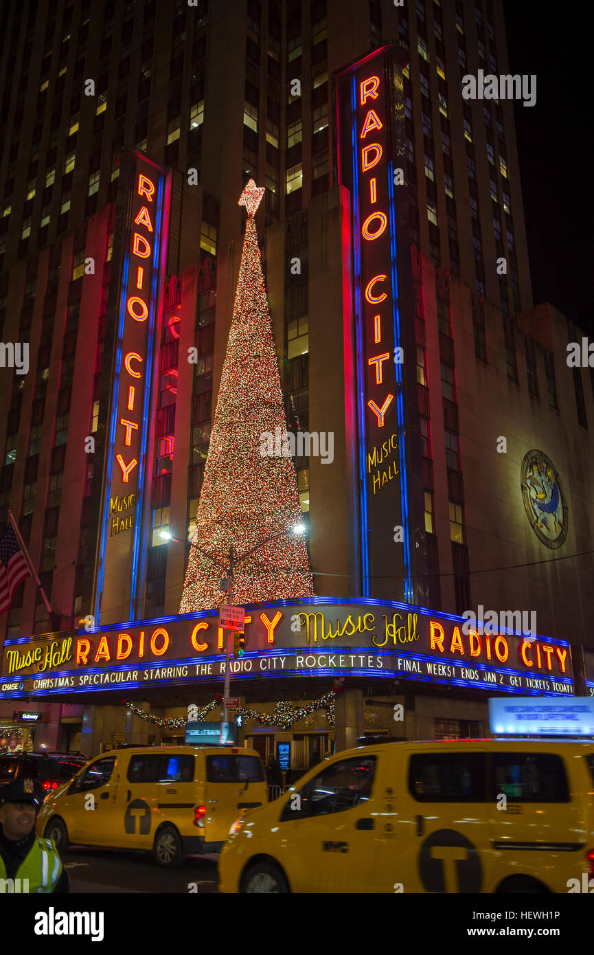 new york city december 23 2016 christmas lights decorate the city for the