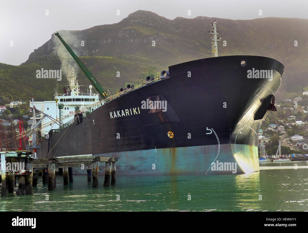 Vessel KAKARIKI (IMO: 9158305, MMSI: 512000050) is a crude oil tanker buit in 1999 and currently sailing under the - Stock Image