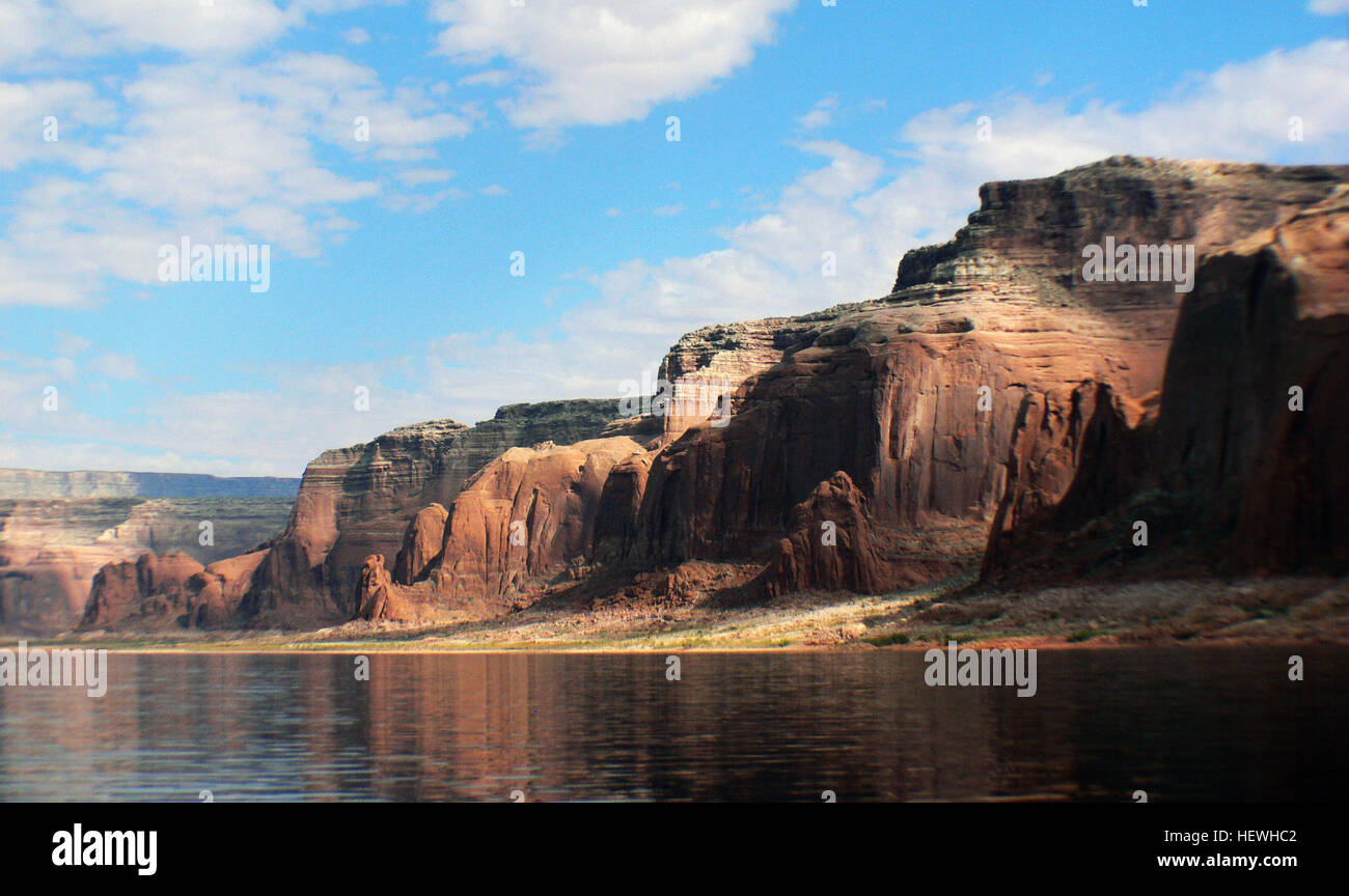 Glen Canyon National Recreation Area draws more than two million visitors annually. Recreational activities include - Stock Image
