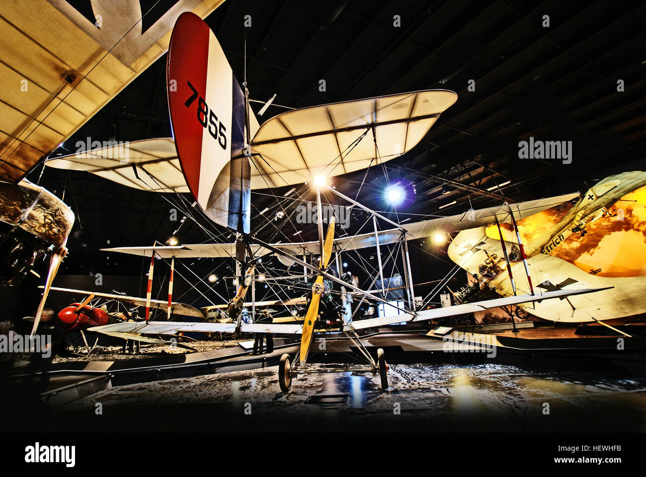 Omaka Aviation Heritage Centre houses a display like no other and you don't have to be an aviation buff to enjoy - Stock Image