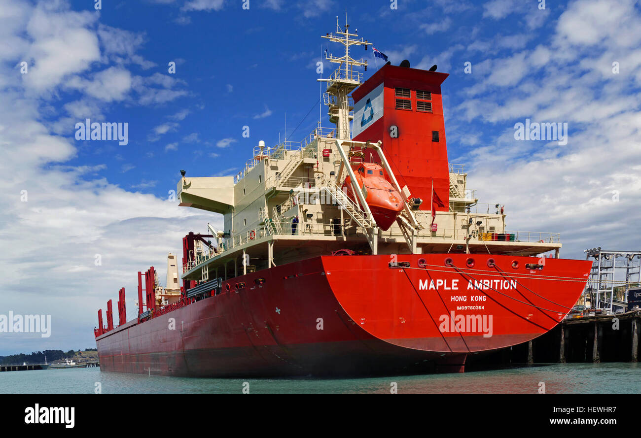 MAPLE AMBITION (IMO: 9760354) is a Bulk Carrier registered and sailing under the flag of Hong Kong Her gross tonnage - Stock Image