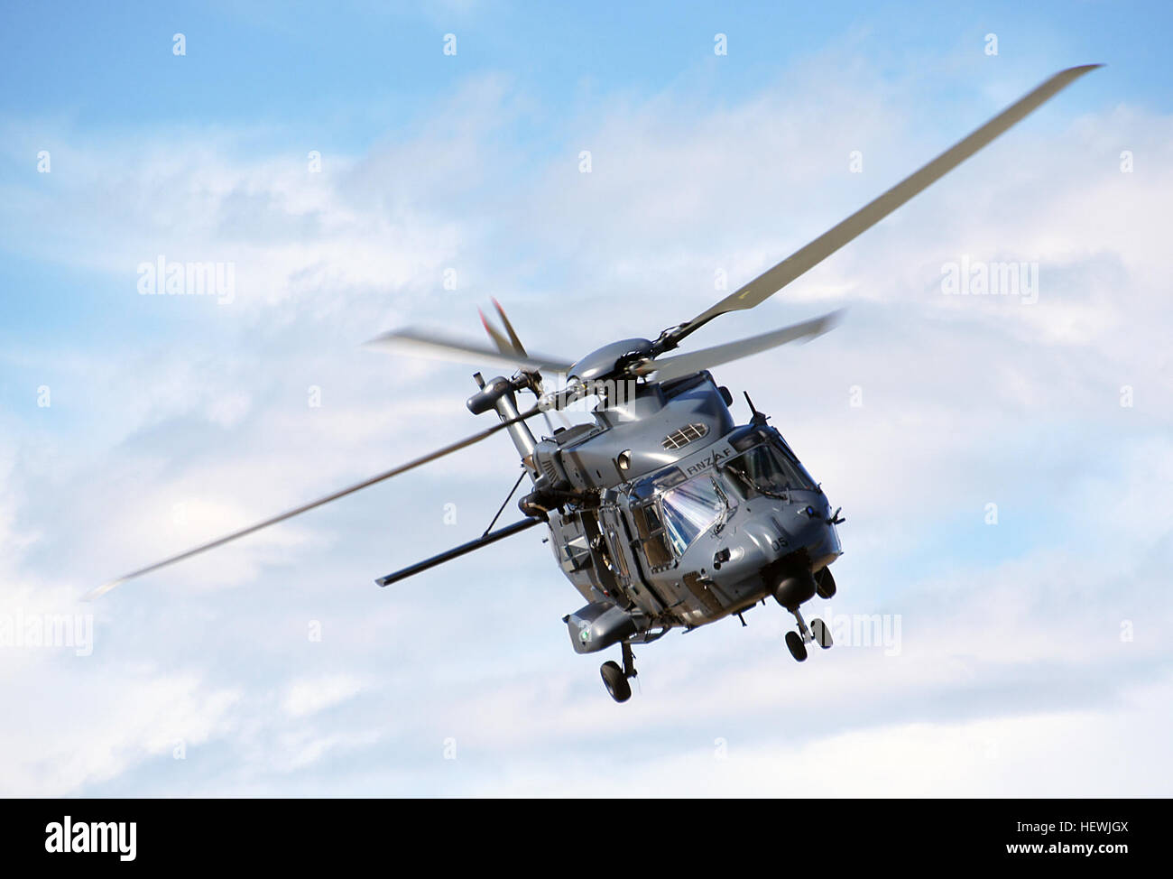 The NH90 is an advanced medium utility helicopter, capable of undertaking a wide variety of roles in New Zealand - Stock Image