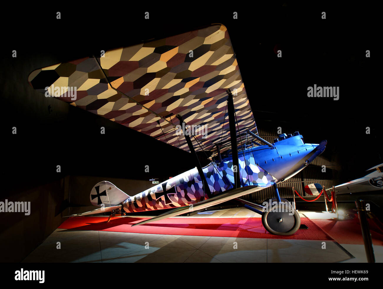 The Pfalz D.III was a fighter aircraft used by the Luftstreitkräfte during the First World War. The D.III was - Stock Image