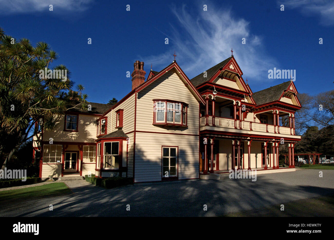 Riccarton House was the homestead commissioned by Jane Deans in circa 1855. The Deans brothers, who along with the - Stock Image