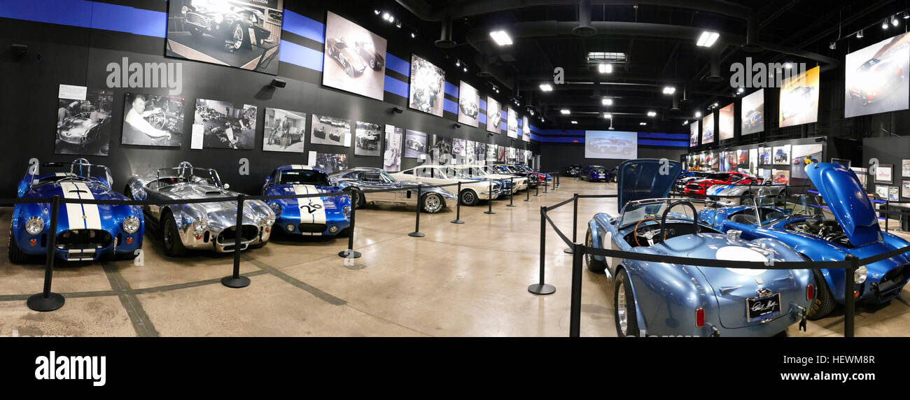 To fans of Carroll Shelby and his high-performance creations, Las Vegas, Nevada, is a destination that offers far - Stock Image