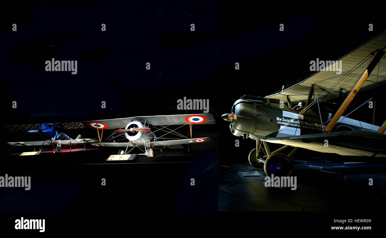 Omaka Aviation Heritage Centre presents the outstanding Knights of the Sky exhibition, featuring Sir Peter Jackson's - Stock Image