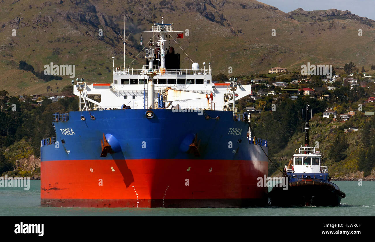 IMO: 9274082  MMSI: 512175000  Call Sign: ZMIQ  Flag: New Zealand (NZ)  AIS Type: Tanker  Gross Tonnage: 25400  - Stock Image