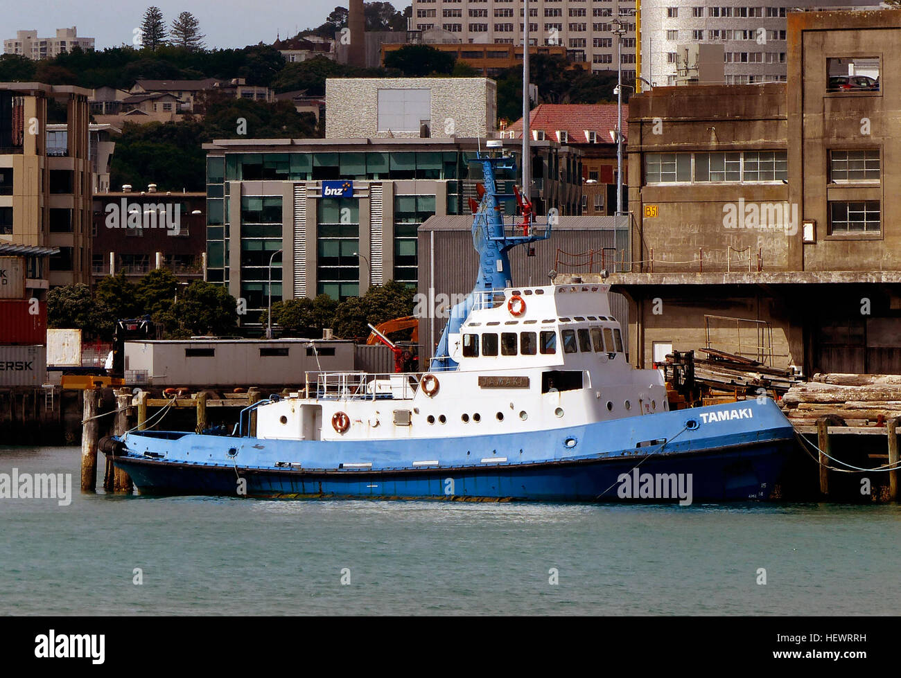 TAMAKI Tug      IMO: 7226550 AIS Type: Tug Gross Tonnage: 221 Deadweight: 340 t Length × Breadth: 29.67m × - Stock Image