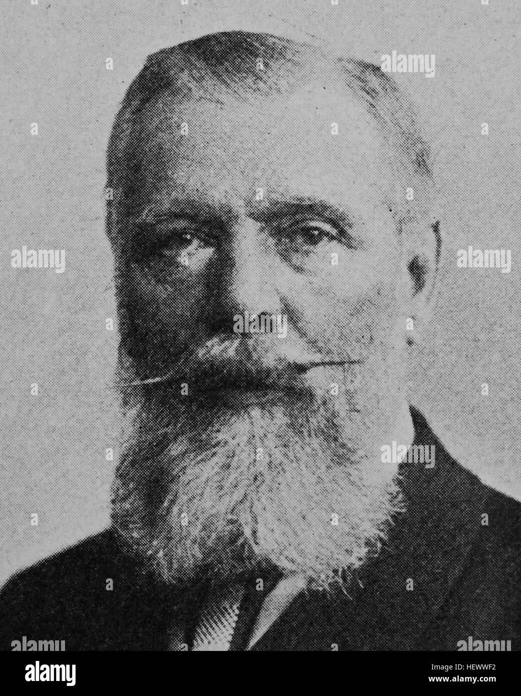 Carl Ferdinand Freiherr von Stumm-Halberg, Carl Ferdinand Stumm, 1836 - 1901, preussischer Montanindustrieller und - Stock Image