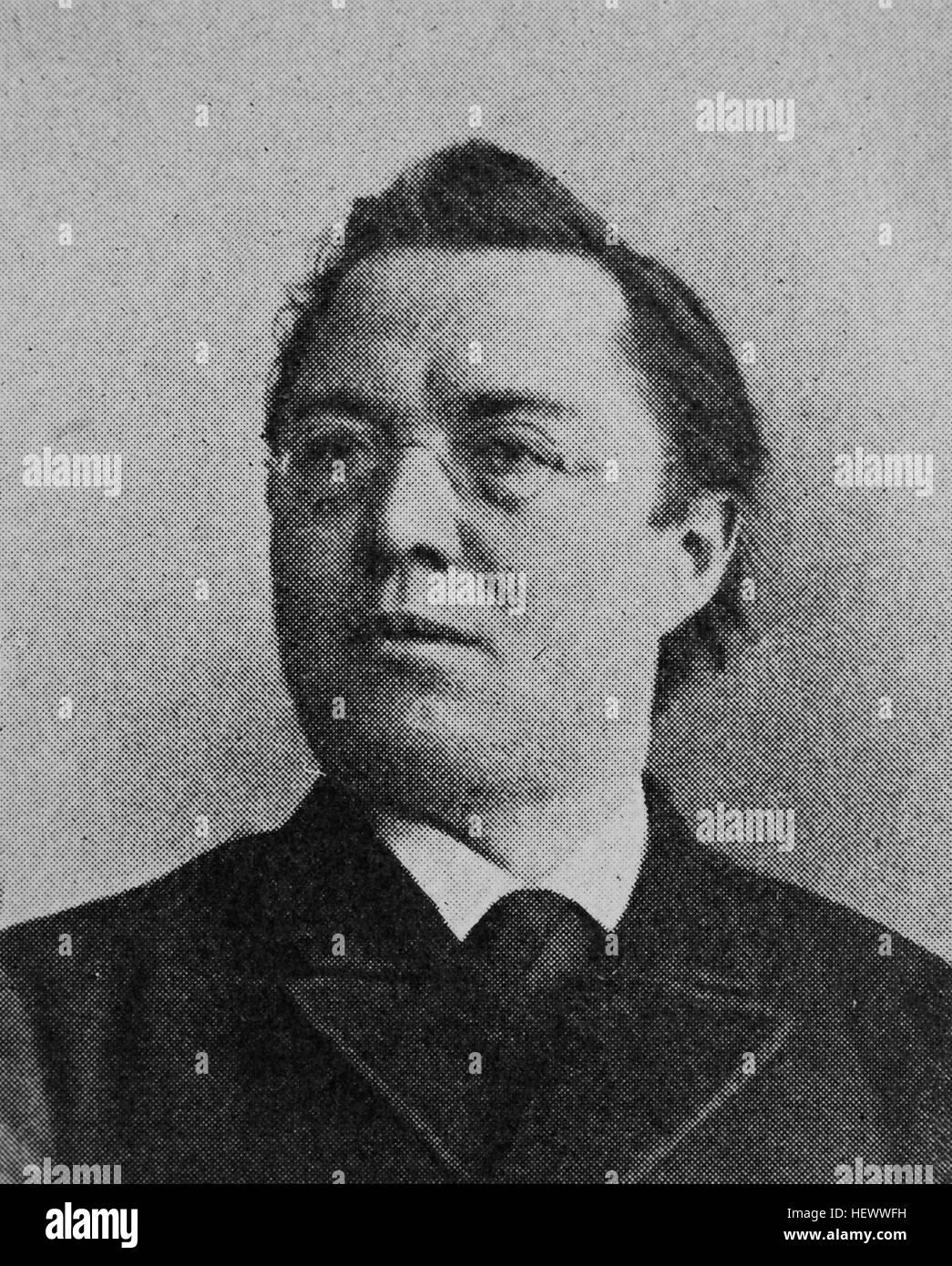 Franz Xaver Schaedler, 1852 - 1913, Priester der Dioezese Speyer, Domkapitular im Erzbistum Bamberg, Abgeordneter - Stock Image