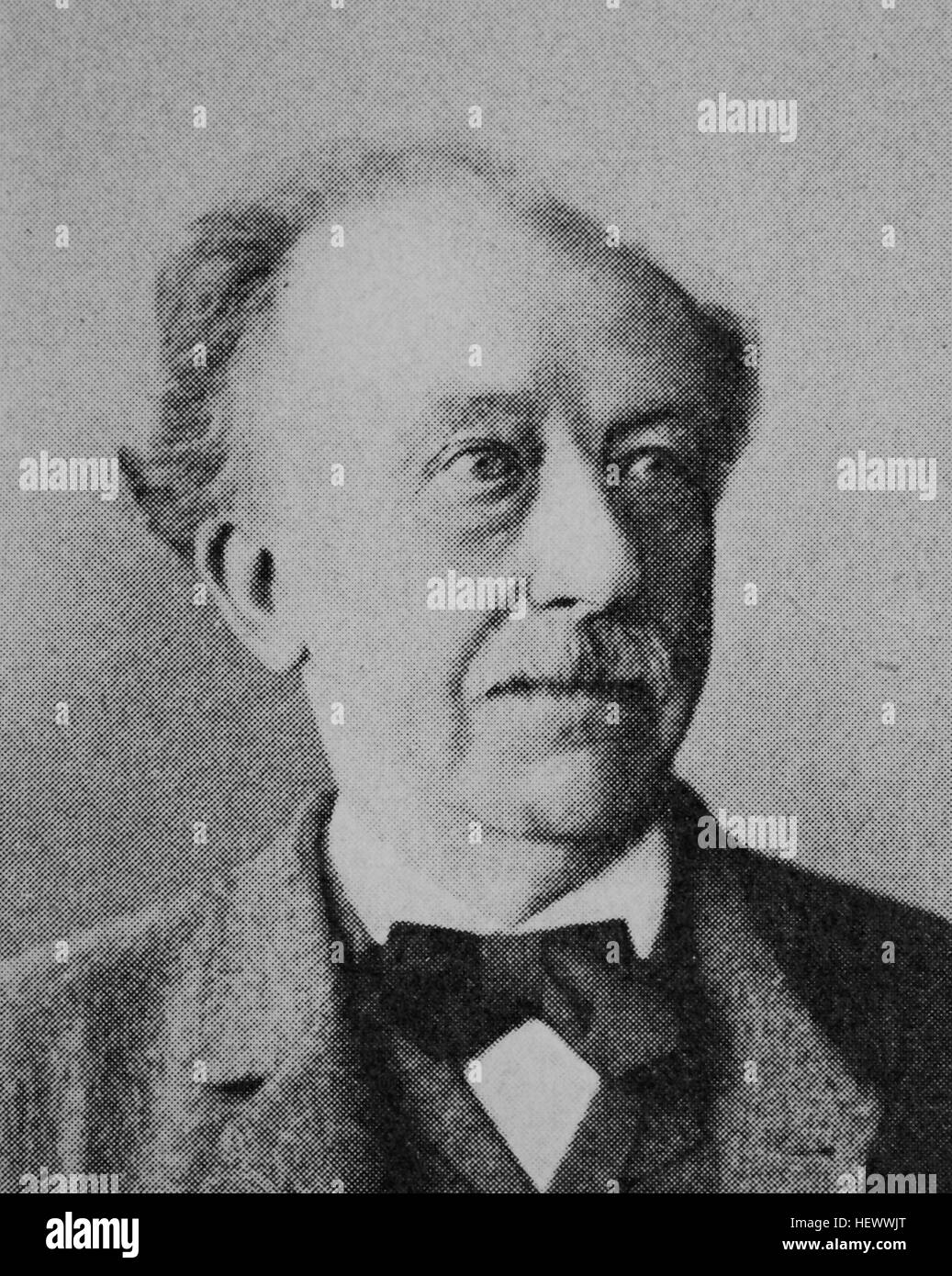 Friedrich Adolf Hammacher, 1824 - 1904, german Jurist, Reichstagsabgeordneter und Wirtschaftsfuehrer., picture from - Stock Image