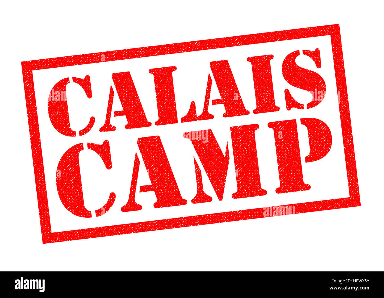 CALAIS CAMP red Rubber Stamp over a white background. - Stock Image