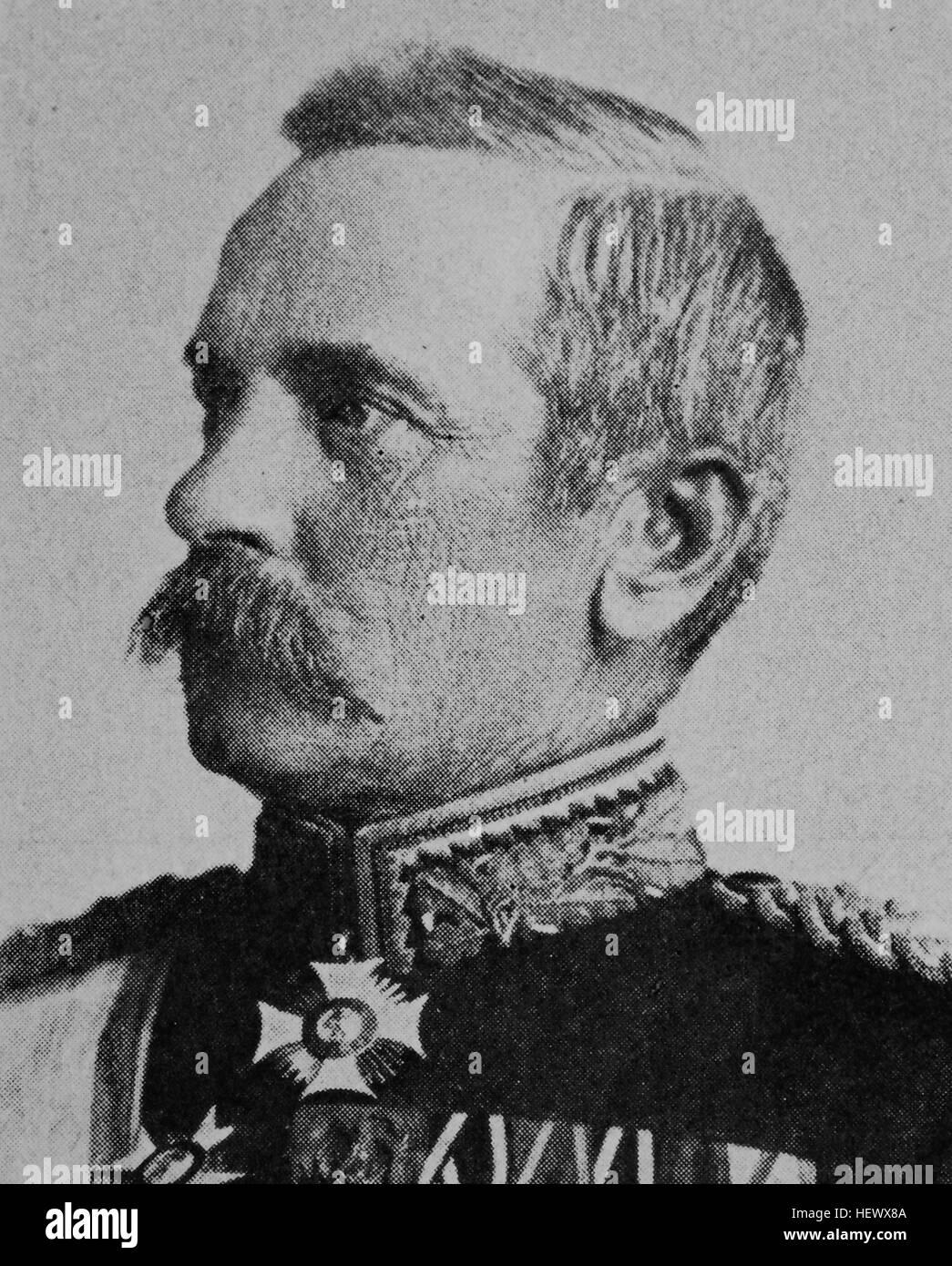 Maximilian Freiherr Schott von Schottenstein, 1836 - 1917, wuerttembergischer General der Infanterie, Kriegsminister, Stock Photo